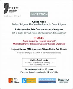 QUENTELO  INVITATION MAC AVIGNON